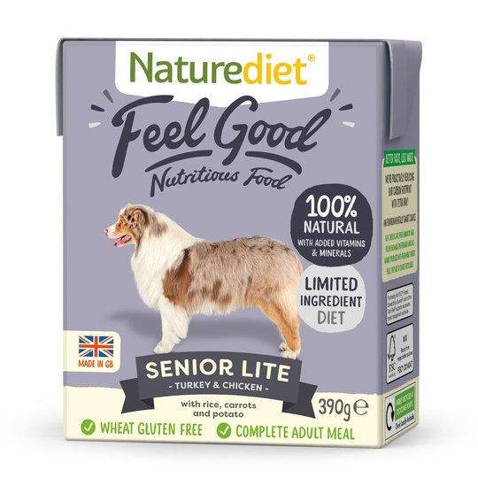 Naturediet Feel Good Senior Lite Kalkon & Kyckling (390 g)