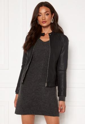 JDY Stormy Faux Leather Jacket Black 40