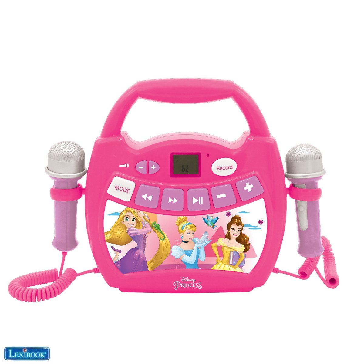 Lexibook - Disney Princesses Portable Digital Music Player with 2 Mics (MP300DPZ)