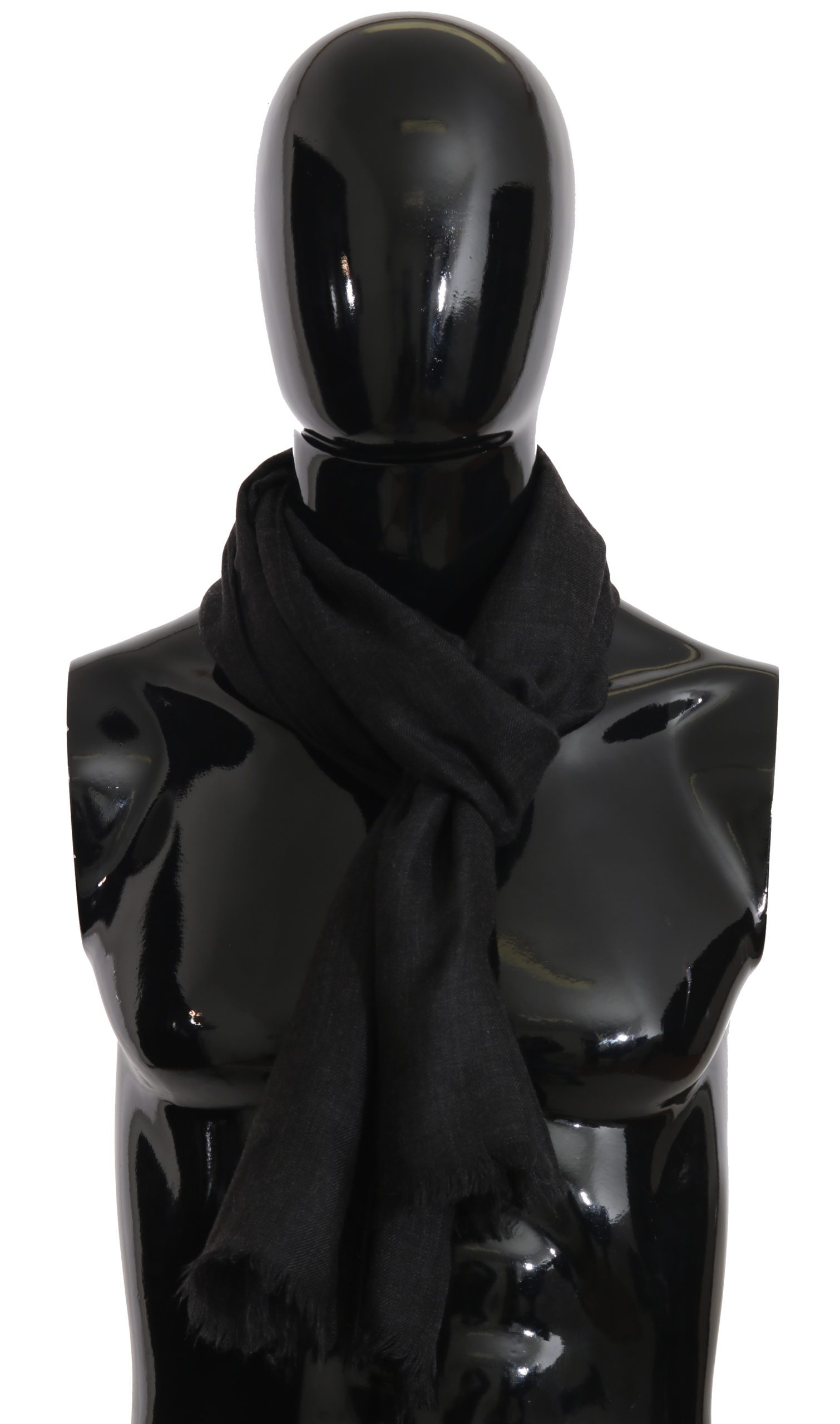 Dolce & Gabbana Men's Cashmere Pashmina Wrap Shawl Scarf Gray MS2296