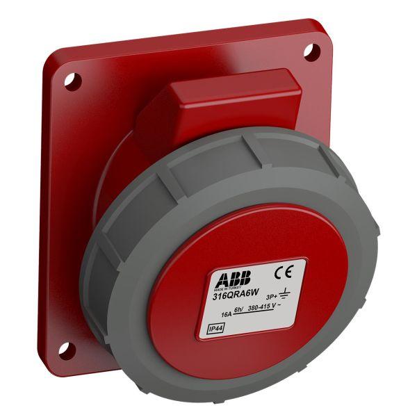 ABB 2CMA102318R1000 Paneelin ulostulo pikaliitettävä, tärinänkestävä Kulma, 4-nastainen, 16 A