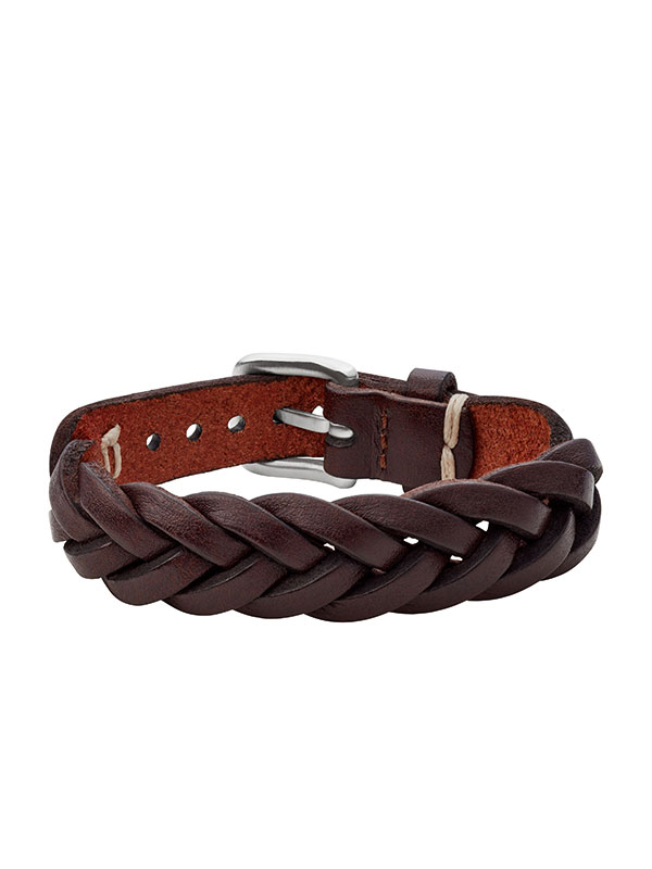 FOSSIL Armband Vintage Casual - Brun JF03851040