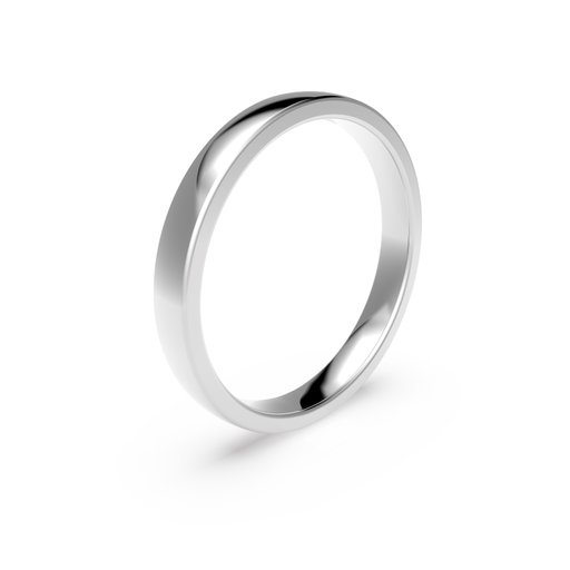Förlovningsring i platina 3mm, 60