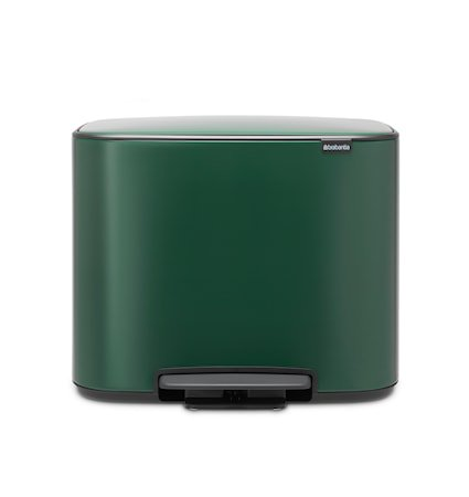 Bo Pedalbøtte Pine Green 3 x 11 liter