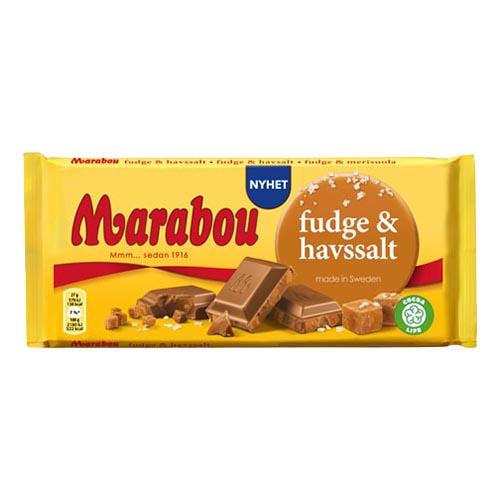 Marabou Fudge & Havssalt Chokladkaka - 185 gram