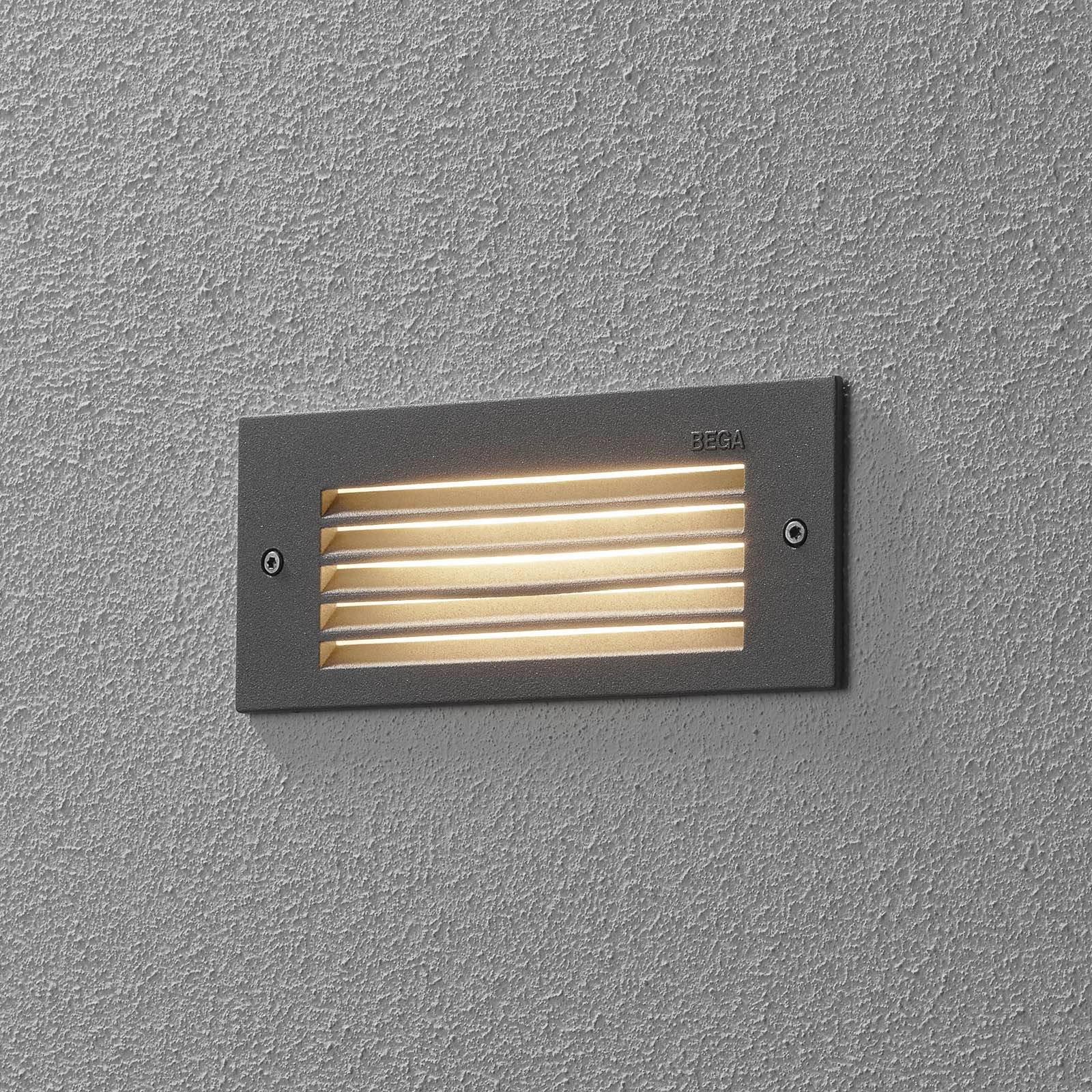 BEGA 33017 LED-veggmontering 3 000 K sølv 17 cm