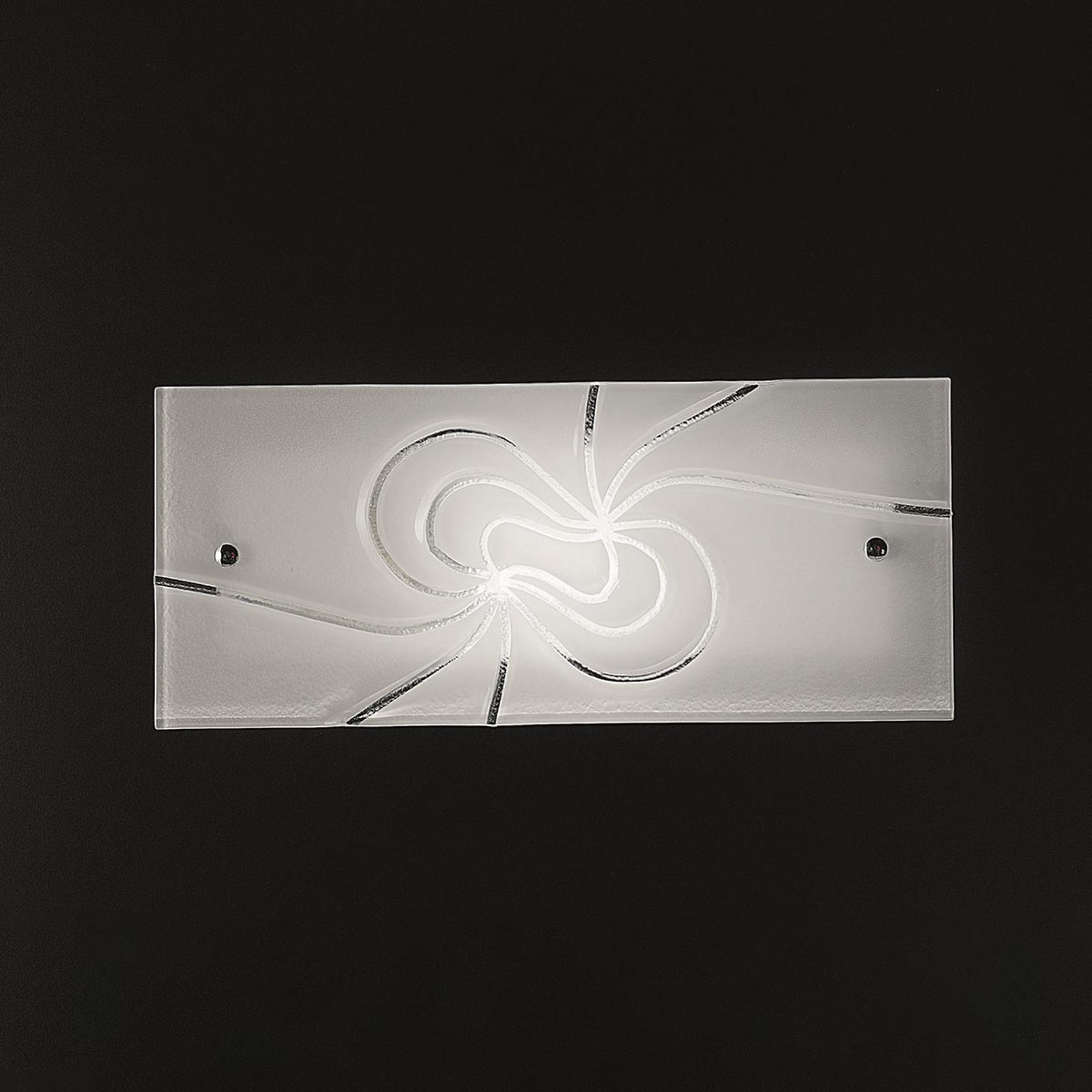 Koristeellinen-lasiseinävalaisin Mistral 35 cm