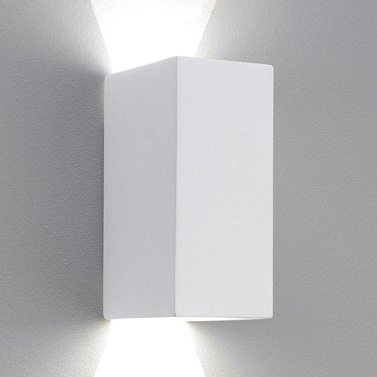 Astro Parma 160 -LED-seinälamppu, kipsiä, 2°700 K