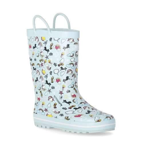 Trespass Kid's Outdoor Waterproof Rubber Boot Starry - Unicorn Mint UK-11 / EU-29