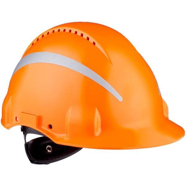 3M G3000 Vernehjelm med reflekser Oransje