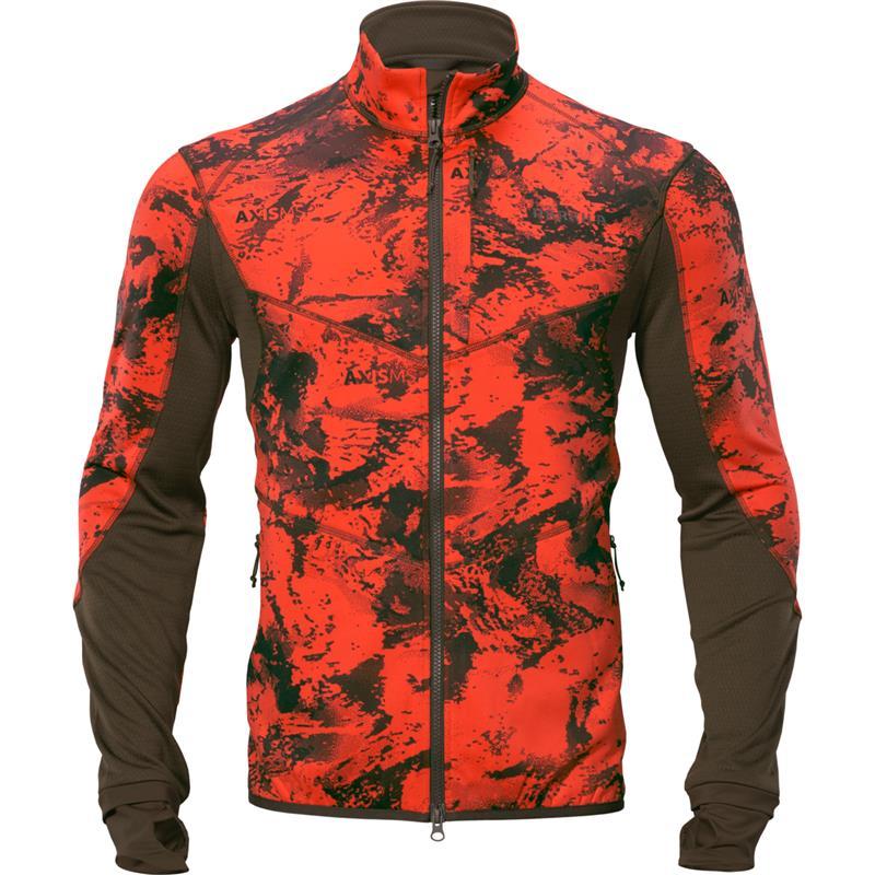 Härkila Wildboar Pro Camo fleecejakke L AXIS MSP® Wildboar orange/Shadow brown