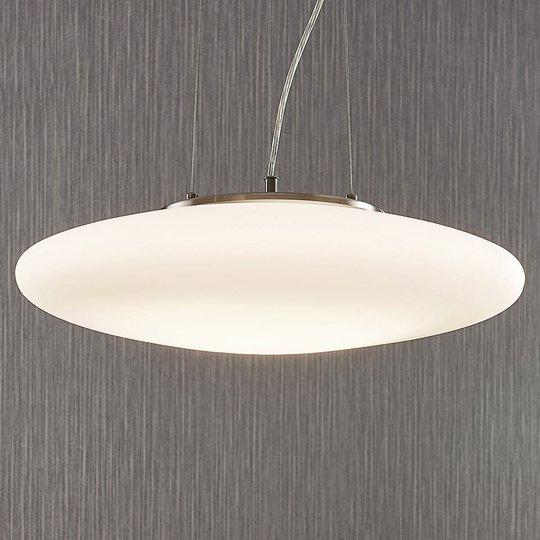 LED-opaalilasi-riippuvalaisin Gunda, valkoinen