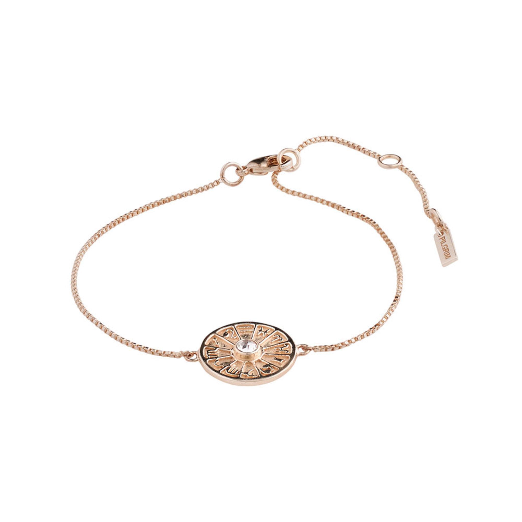 Bracelet : Fia : Rose Gold Plated : Crystal, ONE SIZE