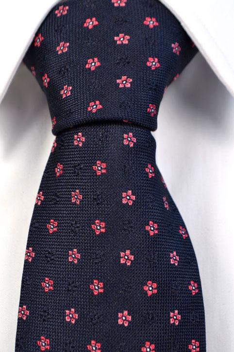 Silke Slips, Blå bunn med blomster i rosa, Blå, Flower, Notch LOKE