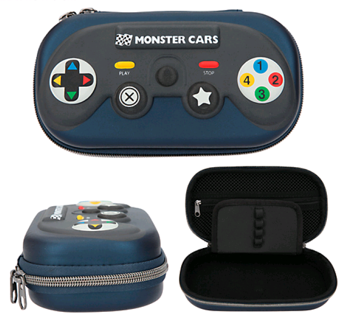 Monster Cars - Pencil Case - Blue Controller (0411490)