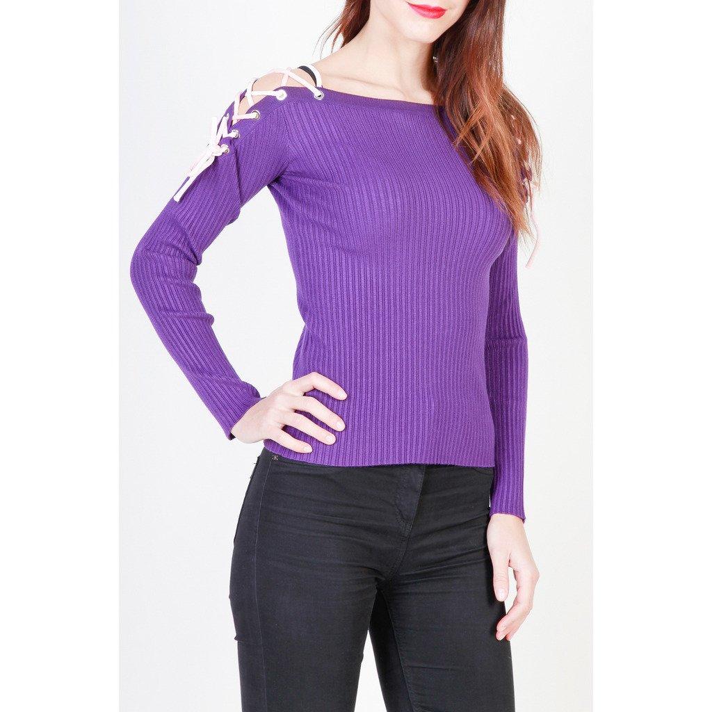Pinko Women's Sweater Violet 1G12N7-Y3LL - violet XS