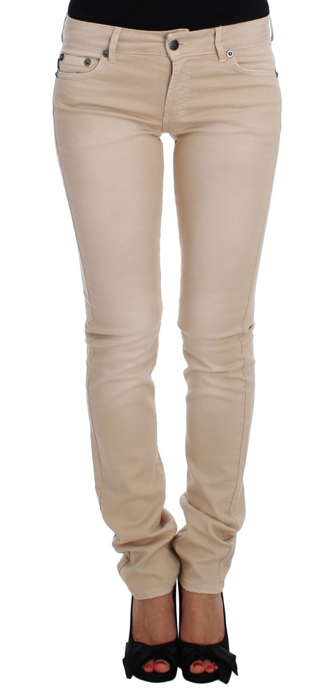 Cavalli Women's Slim Fit Jeans Beige SIG18148 - W26