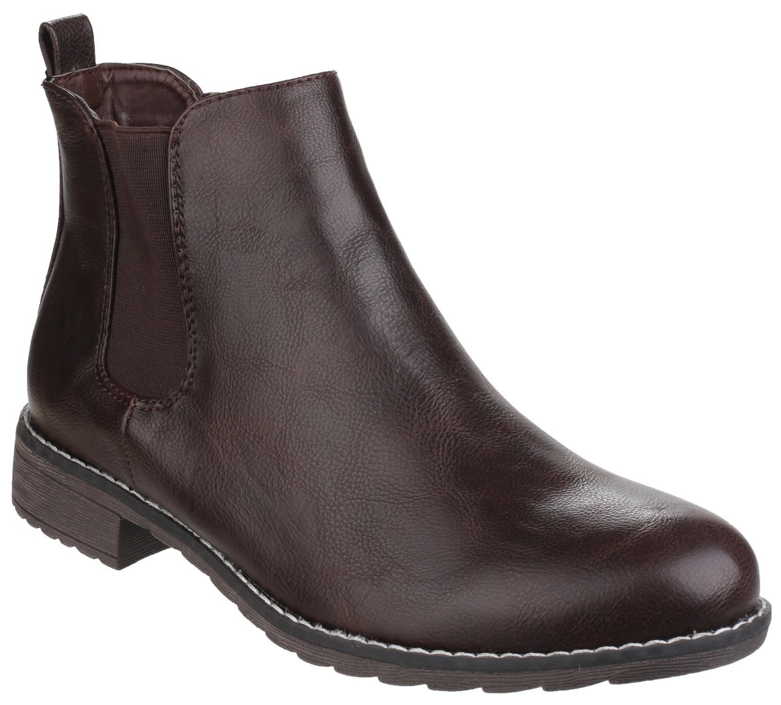 Divaz Women's Kelly Pull on Ankle Boot Black 24272-40022 - Brown 8