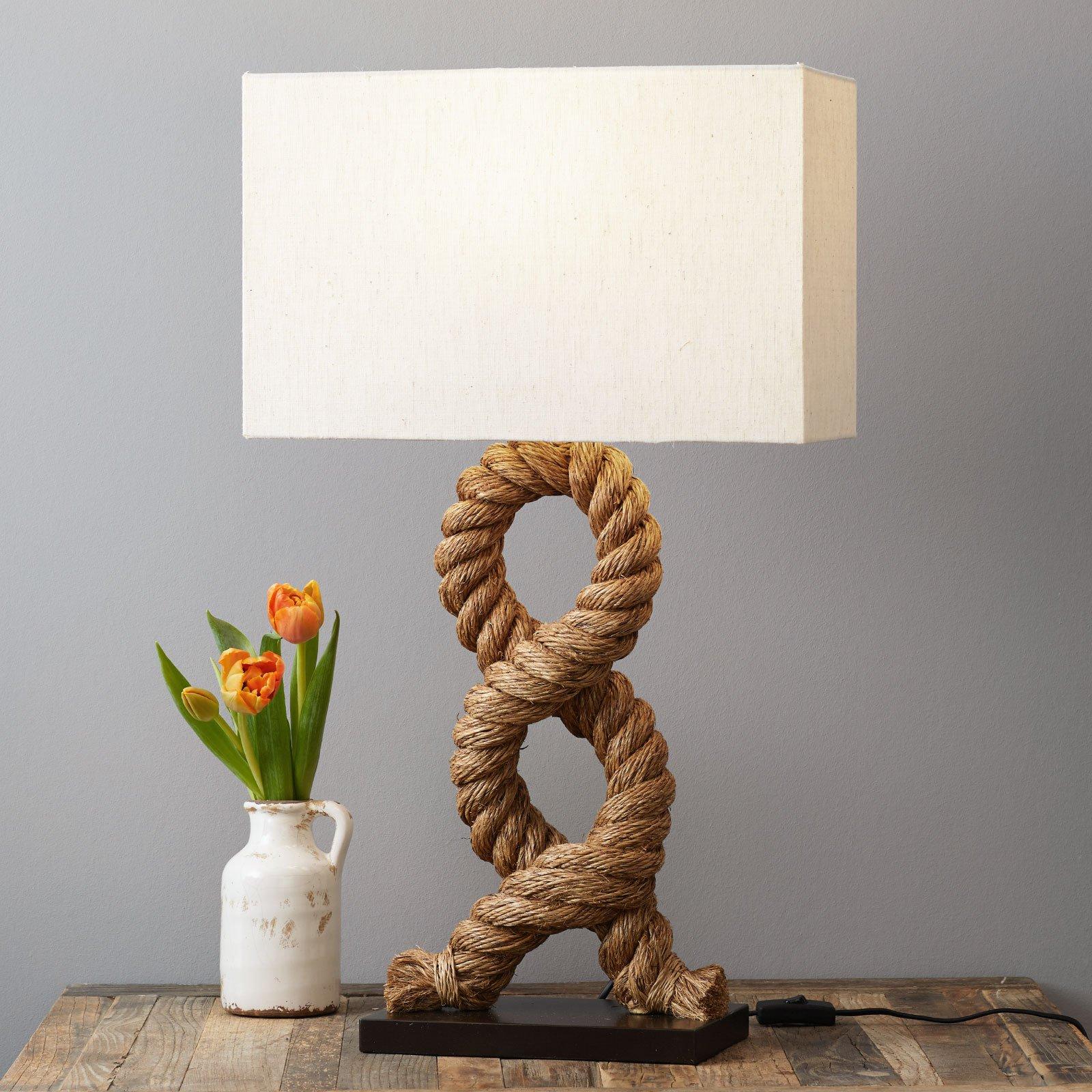 Unik bordlampe VICTORIA, firkantet skjerm