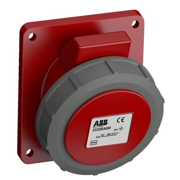 ABB 2CMA102377R1000 Paneelin ulostulo pikaliitettävä, tärinänkestävä Kulma, 4-nastainen, 32 A