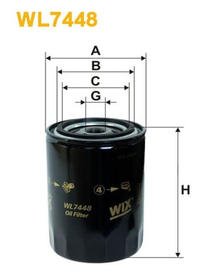 Öljynsuodatin WIX FILTERS WL7448