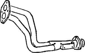 Pakoputki, Edessä, AUDI 80 B3 Sedan, 893253101AA, 893253101J