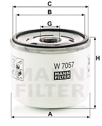 Öljynsuodatin MANN-FILTER W 7057