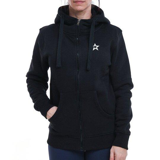 Star Womens Zip Hood, Black