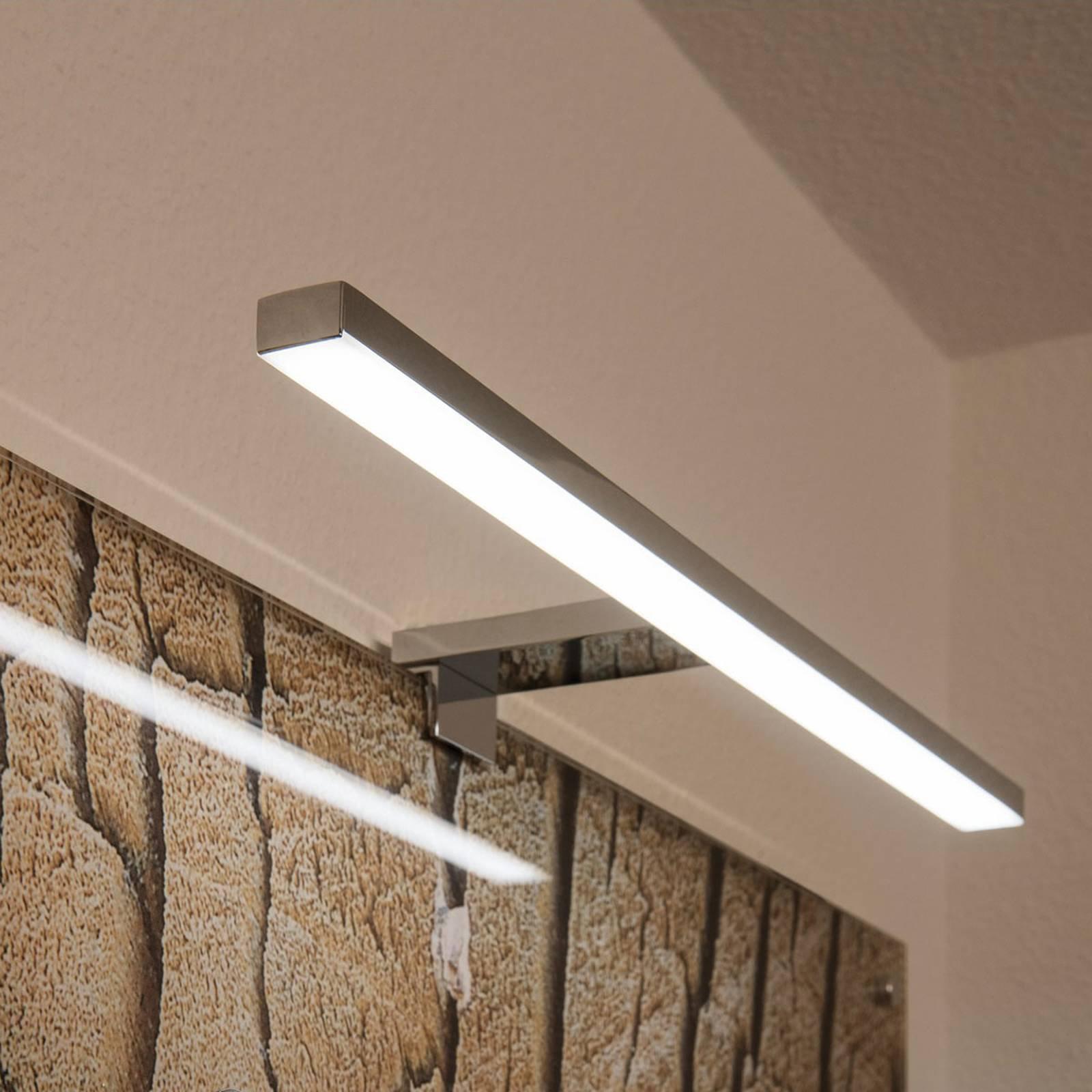 SLV Dorisa LED-klemmevegglampe, bredde 50 cm, krom