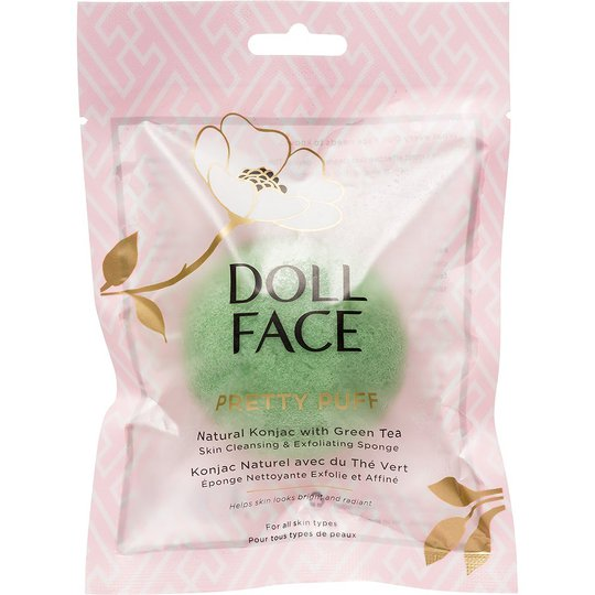 Doll Face Pretty Puff Green Tea Konjac Cleansing Sponge, Doll Face Ihonhoitolaitteet