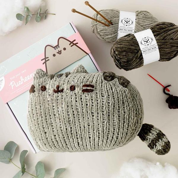 Pusheen Sitting Knitting Kit