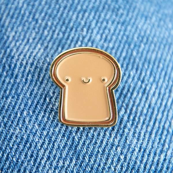 Toast Enamel Pin