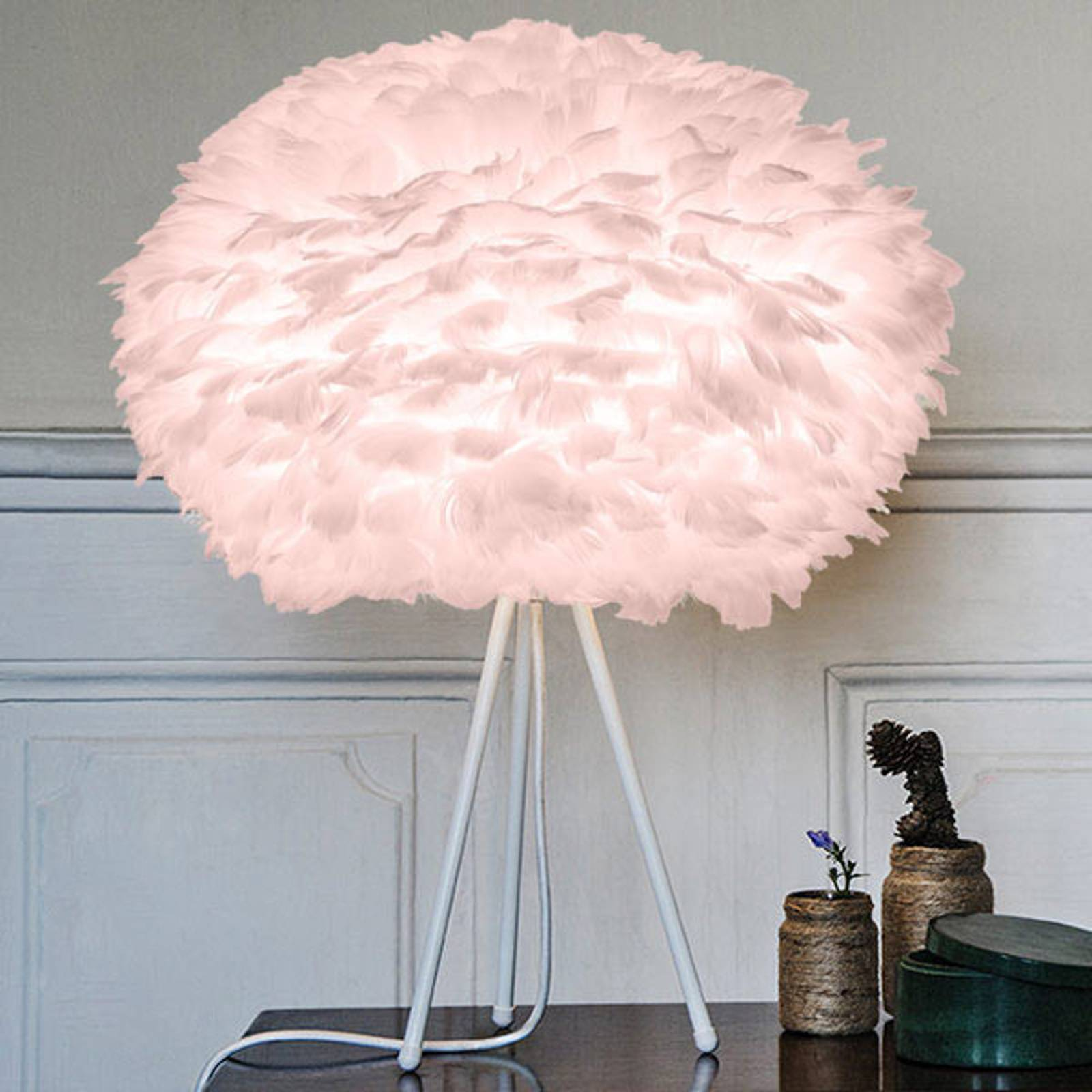 UMAGE Eos medium pöytälamppu roosa, valkoinen