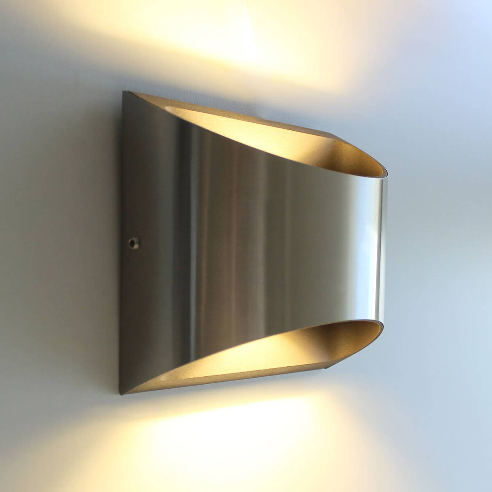 Dodd-LED-ulkoseinävalaisin, ruostumaton teräs