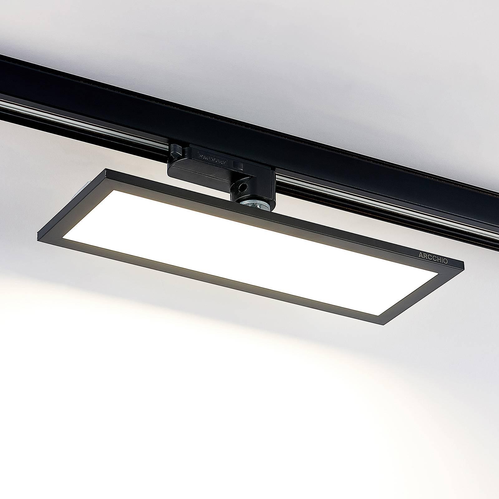 Arcchio Hairis 3-vaihe-LED-paneeli, musta, 4 000 K
