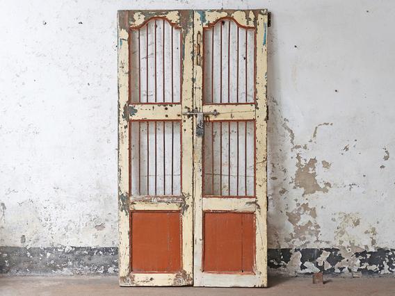 Vintage Double Doors Cream