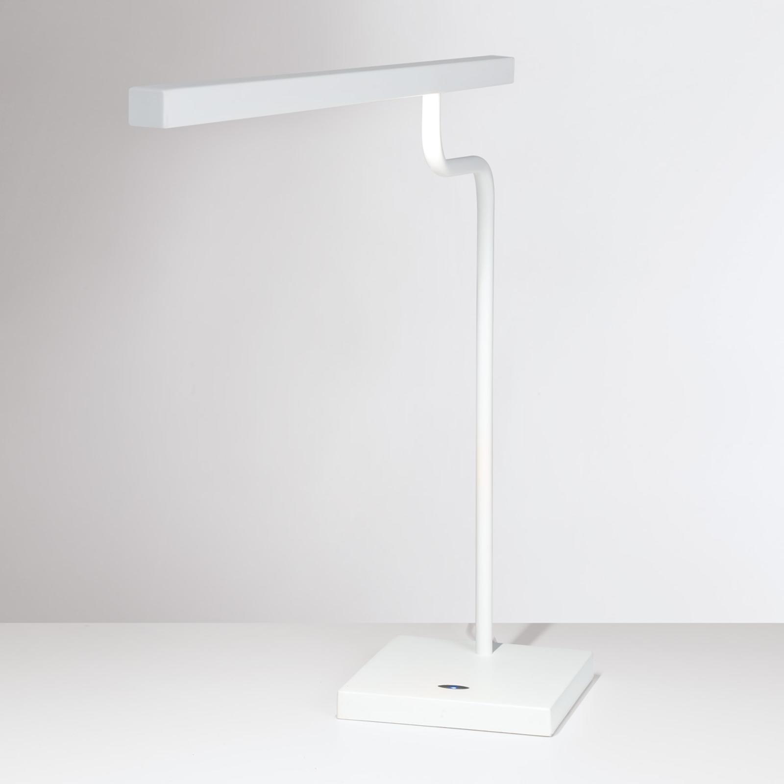 Valkoinen LED-työpöytälamppu MicroStick
