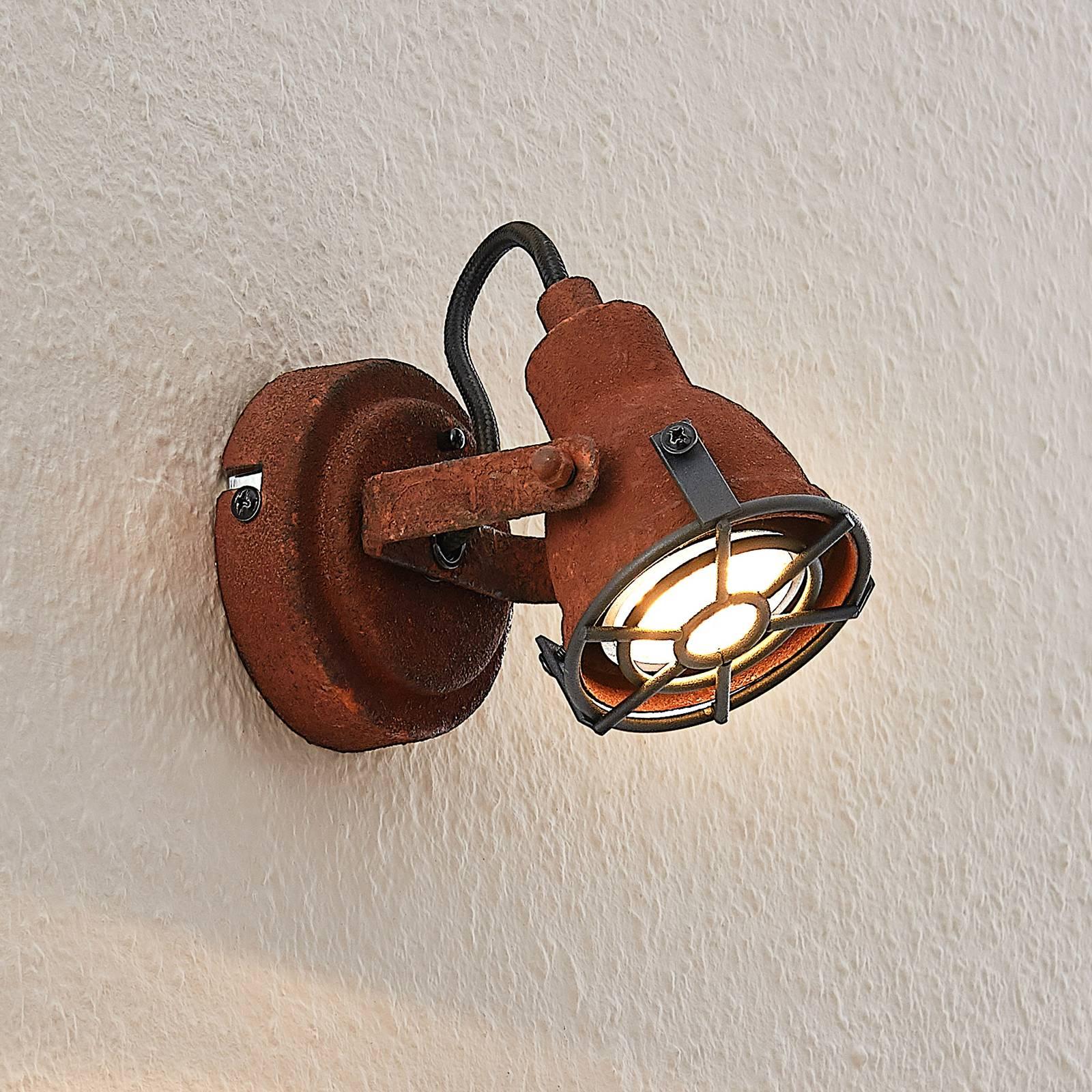 Lindby Scabra -kohdevalaisin, ruoste, 1-lamppuinen