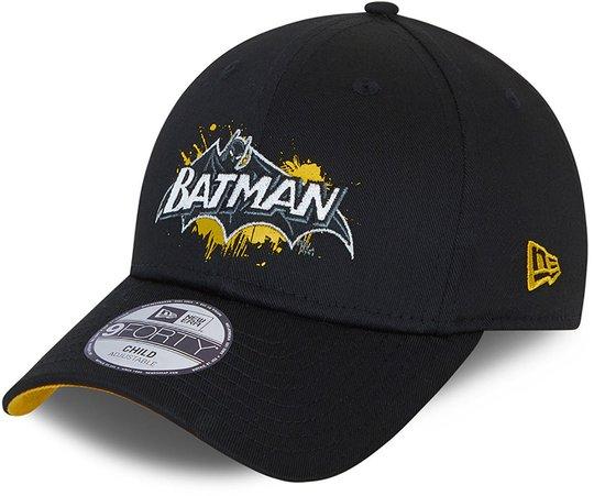 New Era Batman 9Forty Caps, Black, 4-6 Jahre