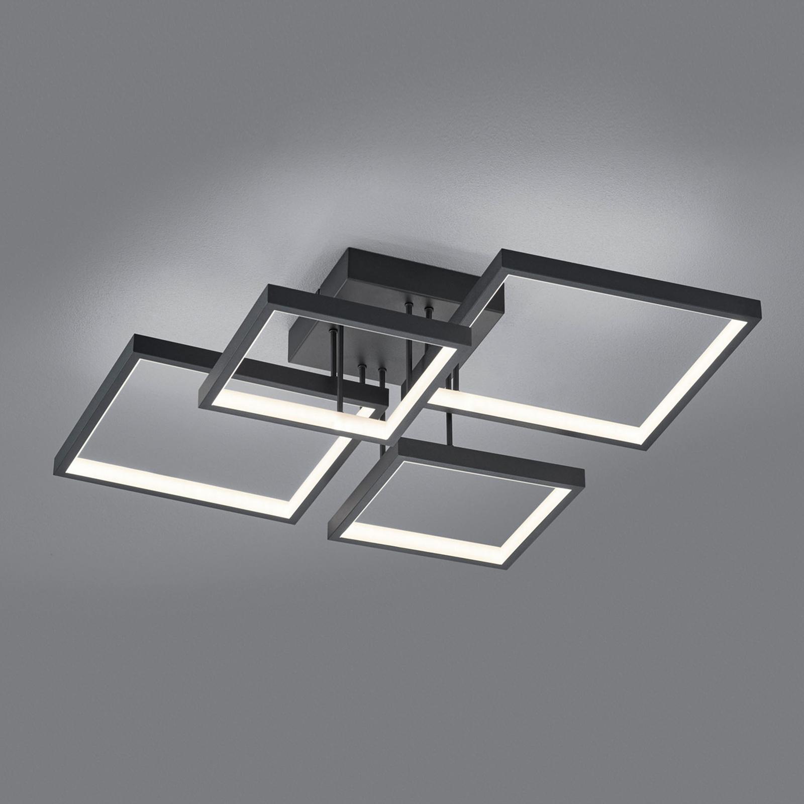 LED-kattovalaisin Sorrento 52x52cm, matta musta