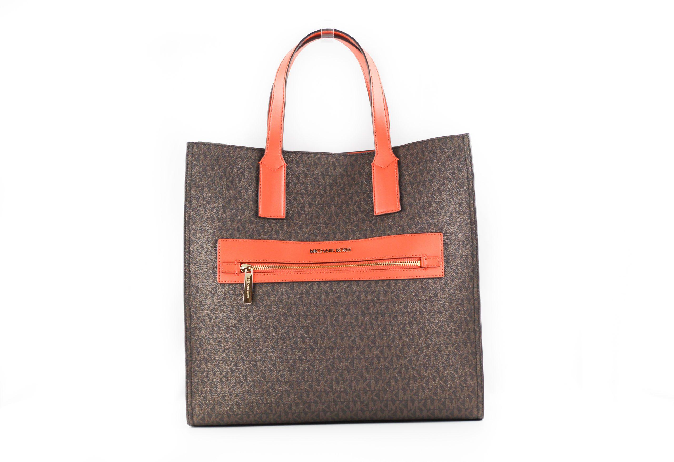 Michael Kors Women's Kenly Tote Bag Tangerine 39892