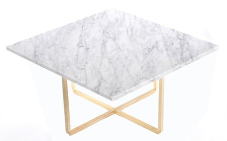 Ninety sofabord - Carrara/messingstomme