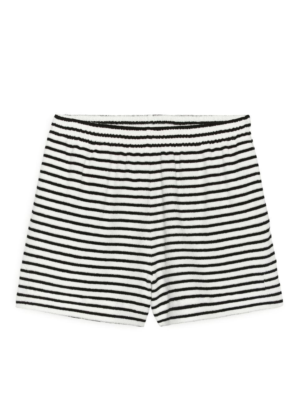 Towelling Shorts - Black