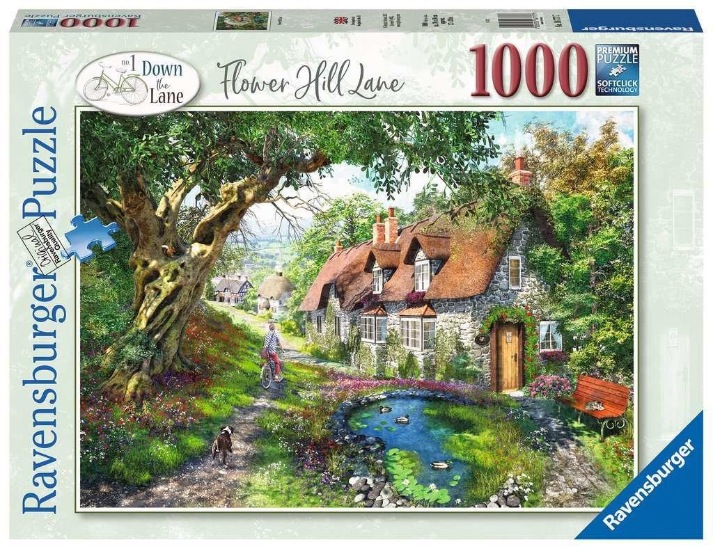 Ravensburger Pussel Flower Hill Lane, 1000 Bitar