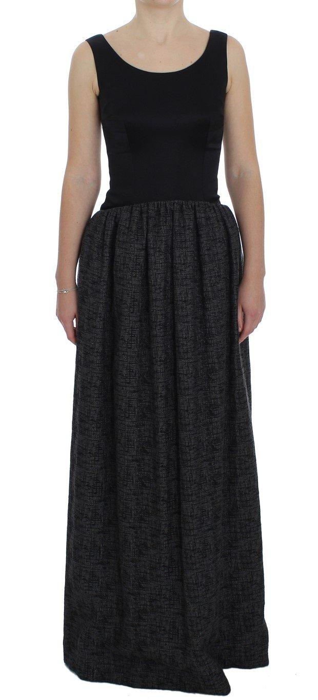 Dolce & Gabbana Women's Sheath Gown Full Length Dress Black NOC10139 - IT40 S