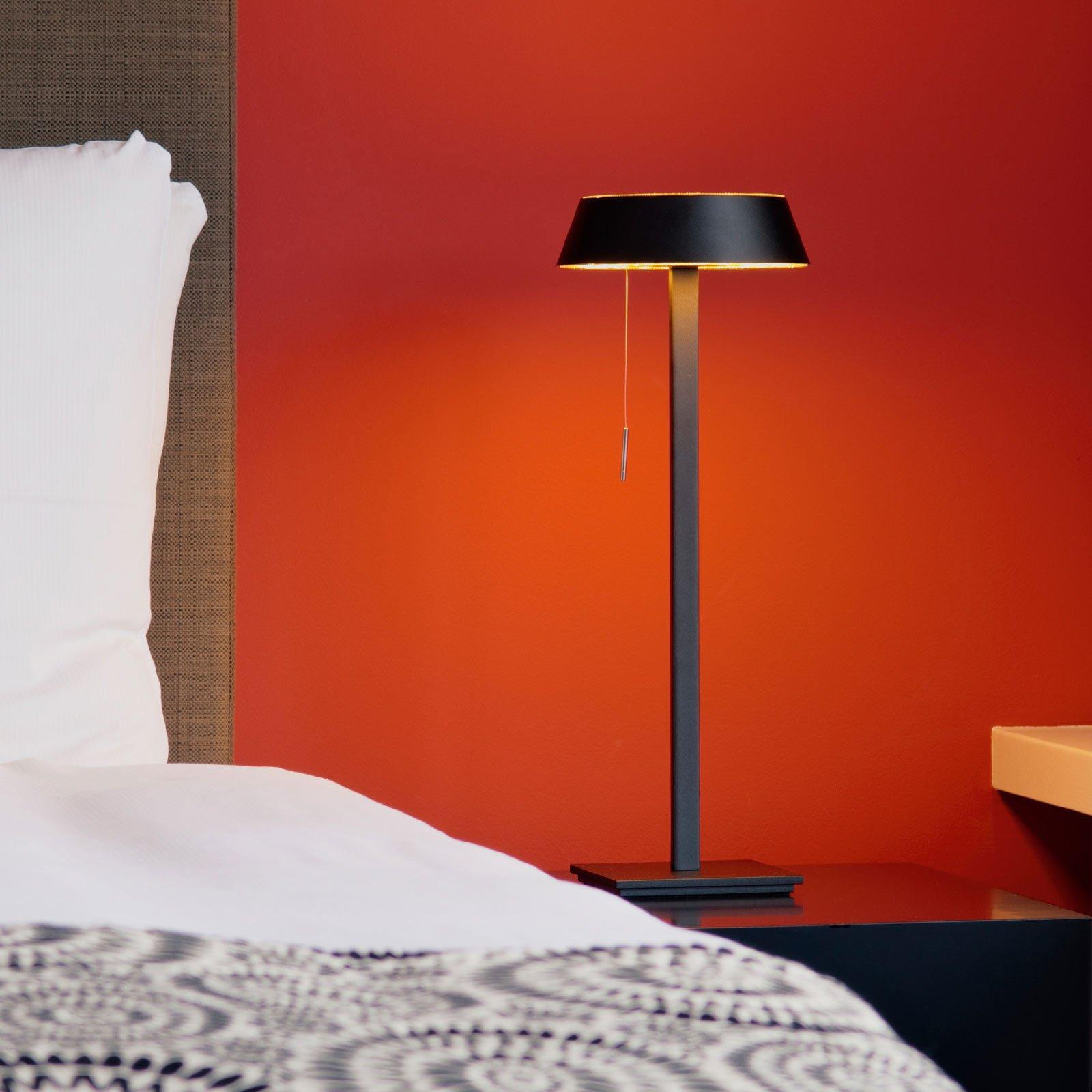 OLIGO Glance LED-bordlampe, svart matt