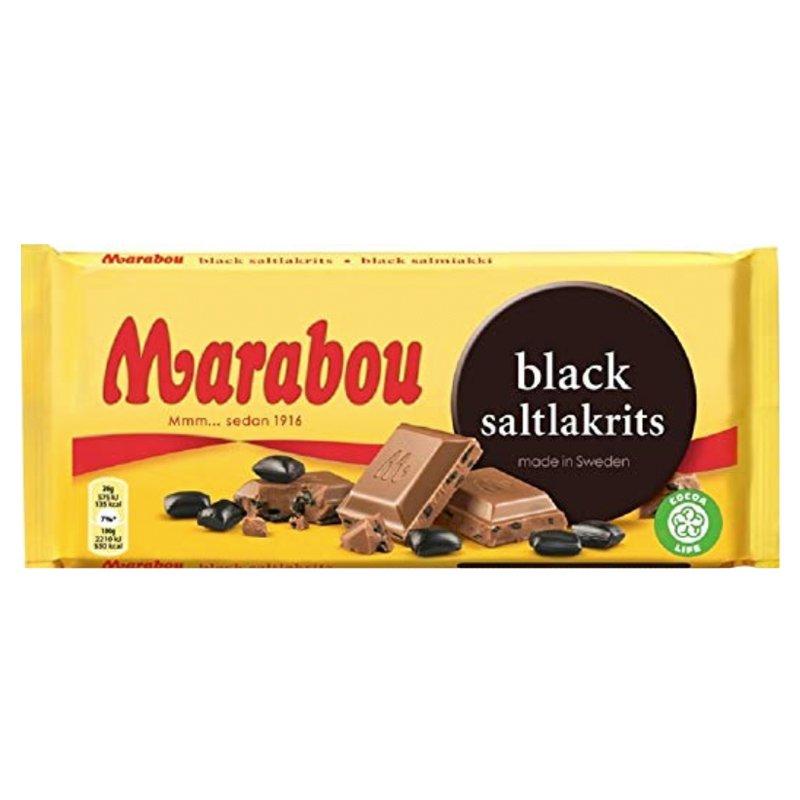 Marabou Black Saltlakrits - 32% rabatt