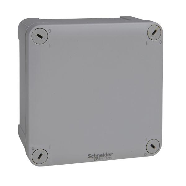 Schneider Electric ENN05045 Koblingsboks grå, glatt, utvendig 105 x 105 x 55 mm