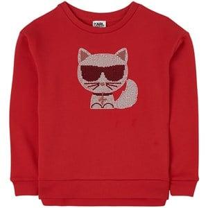 Karl Lagerfeld Kids Choupette Detail Tröja Röd 4 år