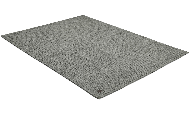 Dalarö grå - håndvevd ullteppe